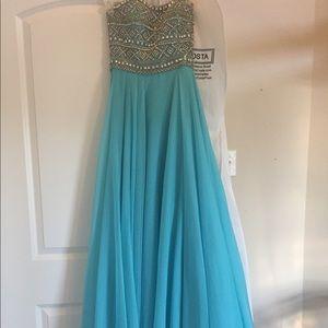 Sherri Hill Blue Prom dress
